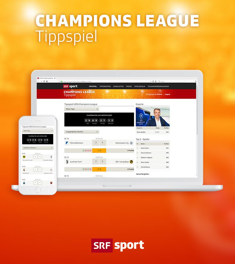 SRF Champions League-Tippspiel 2018/19